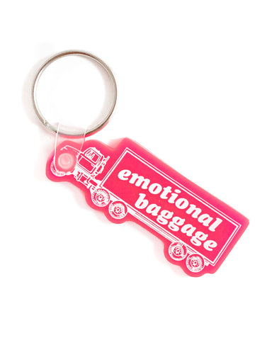 Emotional Baggage Truck Keychain
