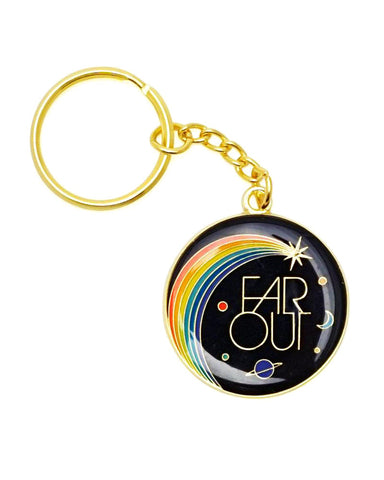 Far Out Galaxy Keychain