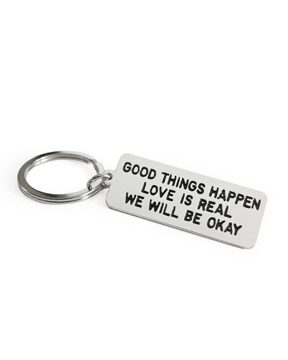 Good Things Happen Keychain-Adam J. Kurtz-Strange Ways