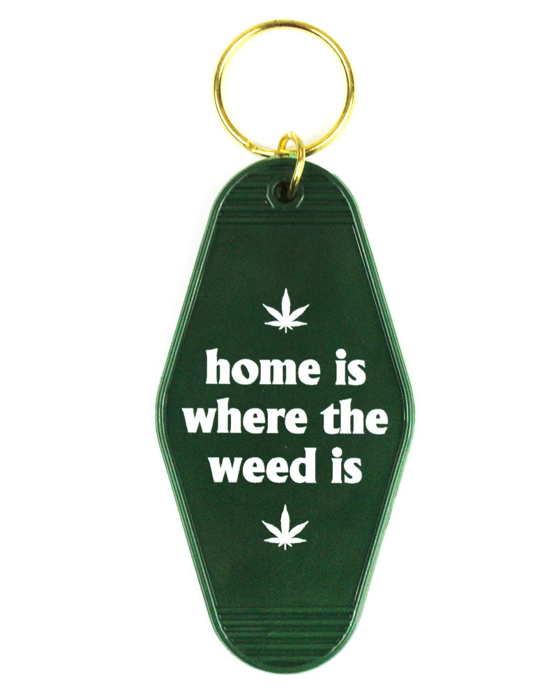 Home Is Where The Weed Is Keychain-A Shop Of Things-Strange Ways