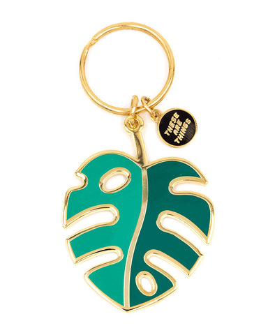 Monstera Leaf Keychain