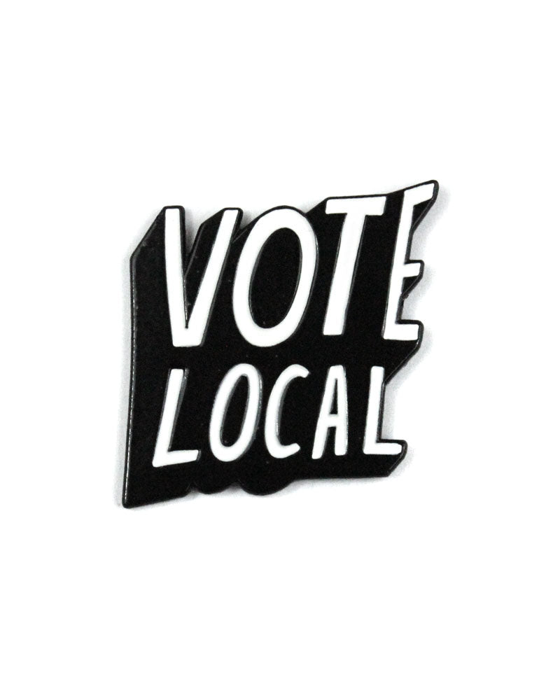 Vote Local Lapel Pin-Culture Flock-Strange Ways
