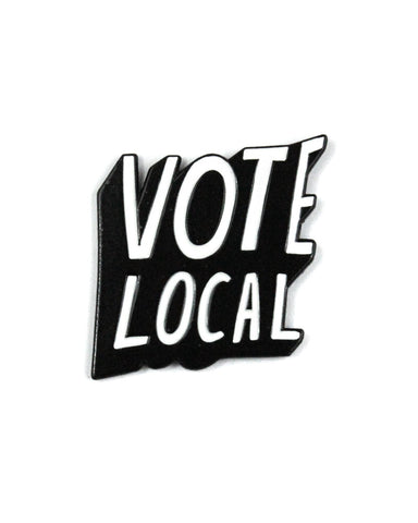 Vote Local Lapel Pin