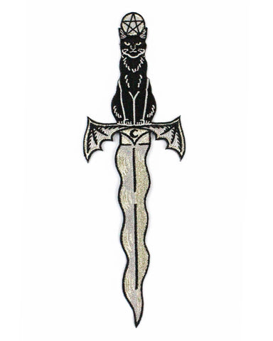 Cathame (Cat Athame) Large Patch