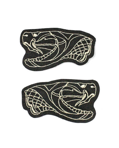 Snake Heads Leather Patch Set