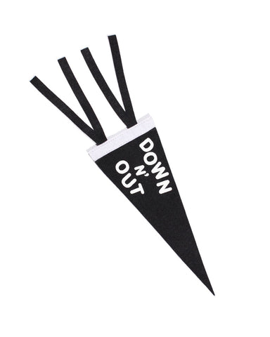 Down N' Out Mini Felt Pennant
