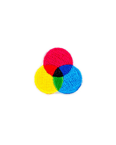 CMYK Circles Mini Sticker Patch