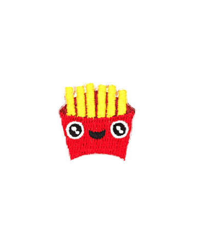 French Fries Face Mini Sticker Patch