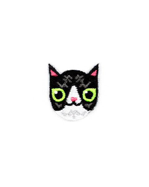 Black & White Cat Mini Sticker Patch-These Are Things-Strange Ways