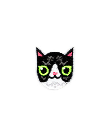 Black & White Cat Mini Sticker Patch