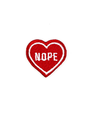 Nope Heart Mini Sticker Patch