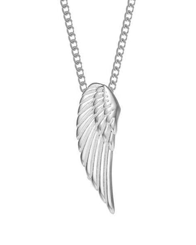 Archangel Wing Necklace - Chrome