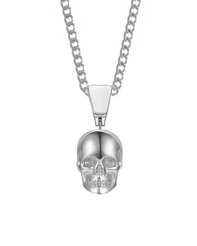Skull Necklace - Chrome