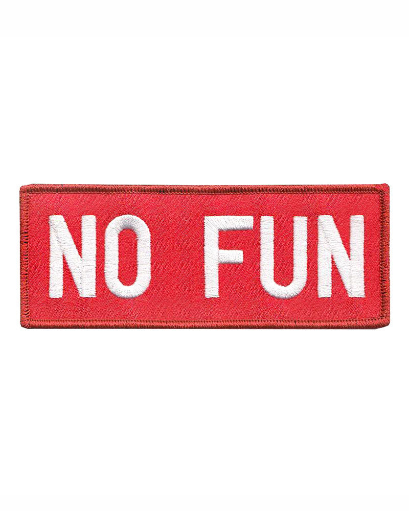 No Fun Patch - Red-No Fun Press-Strange Ways