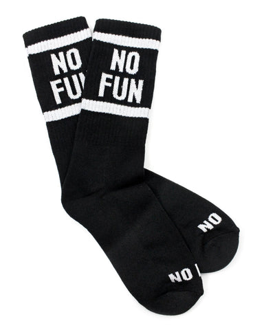No Fun Socks - Black