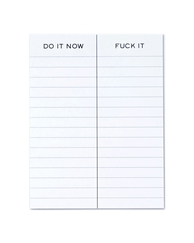 Do It Now / Fuck It Notepad-Terrapin Stationers-Strange Ways