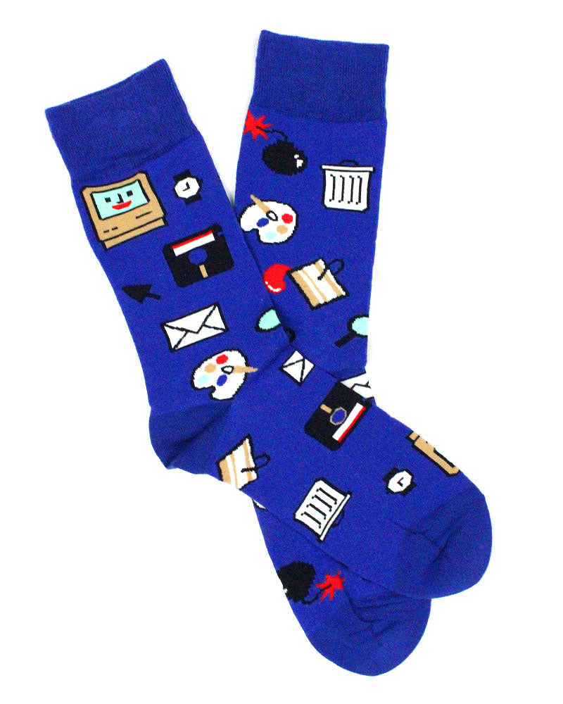 Computer Nerd Socks-Yellow Owl Workshop-Strange Ways