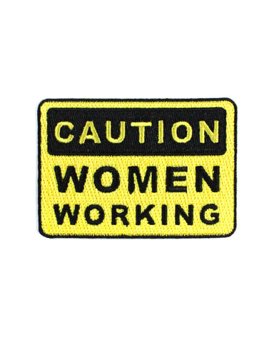 Caution: Women Working Patch