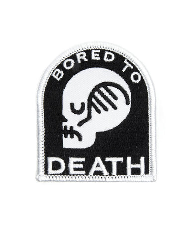 Bored To Death Skull Patch