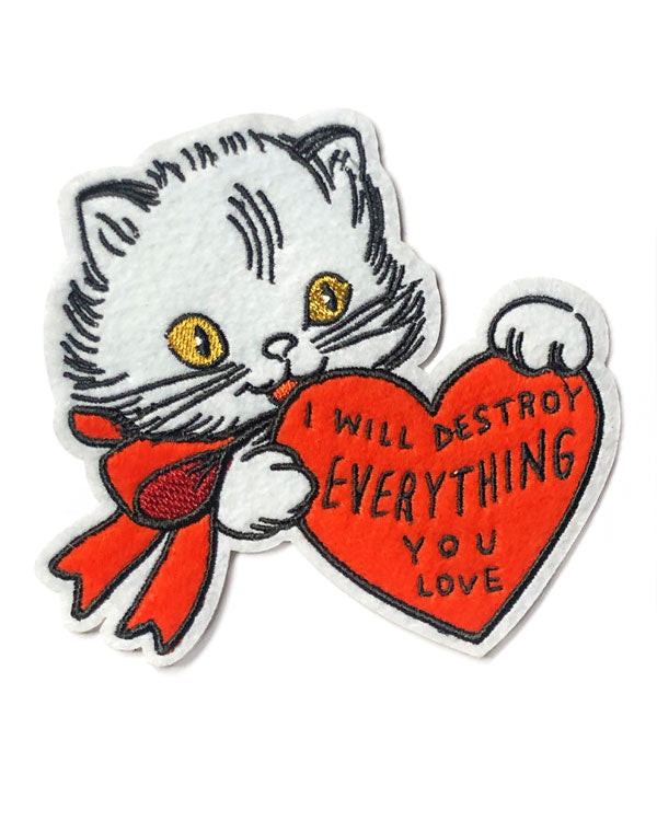 Destroy Everything You Love Cat Large Patch-Stay Home Club-Strange Ways