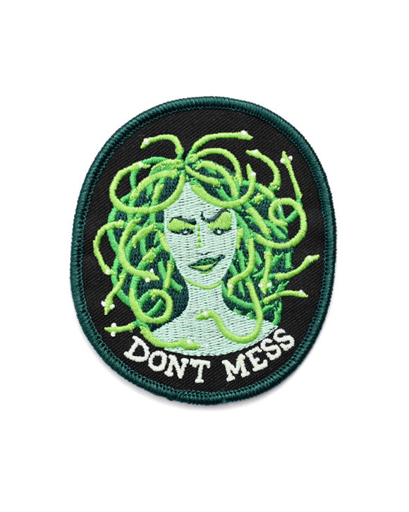 Don't Mess With Medusa Patch (Glow-in-the-Dark)-Frog and Toad Press-Strange Ways
