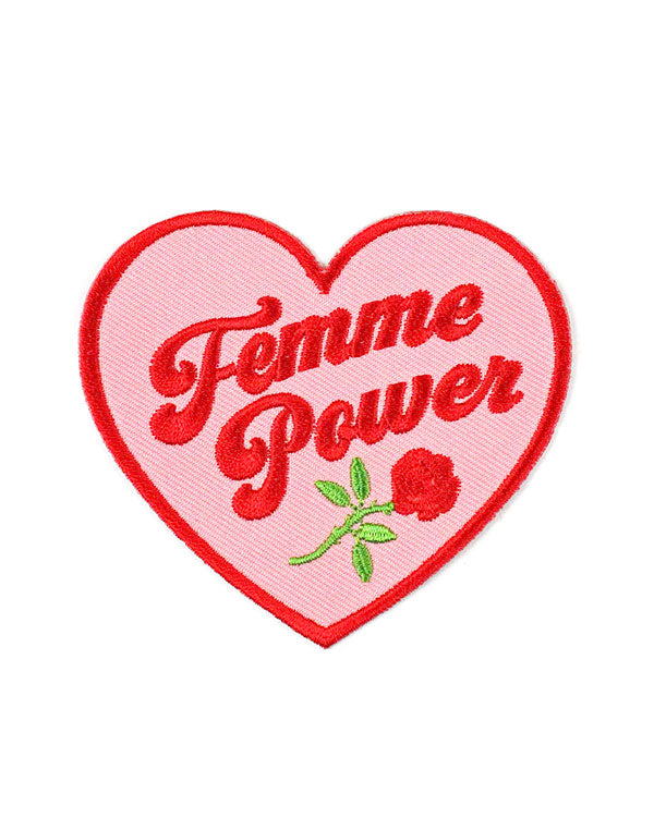 Femme Power Heart Patch-Creepy Gals-Strange Ways
