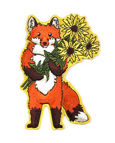 Fox With Flowers Patch