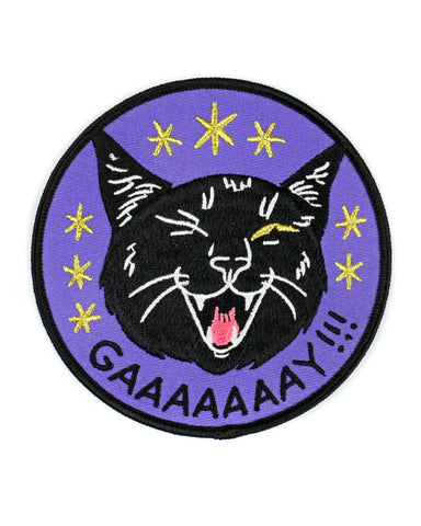 GAAAAAAAY!!! Black Cat Large Patch