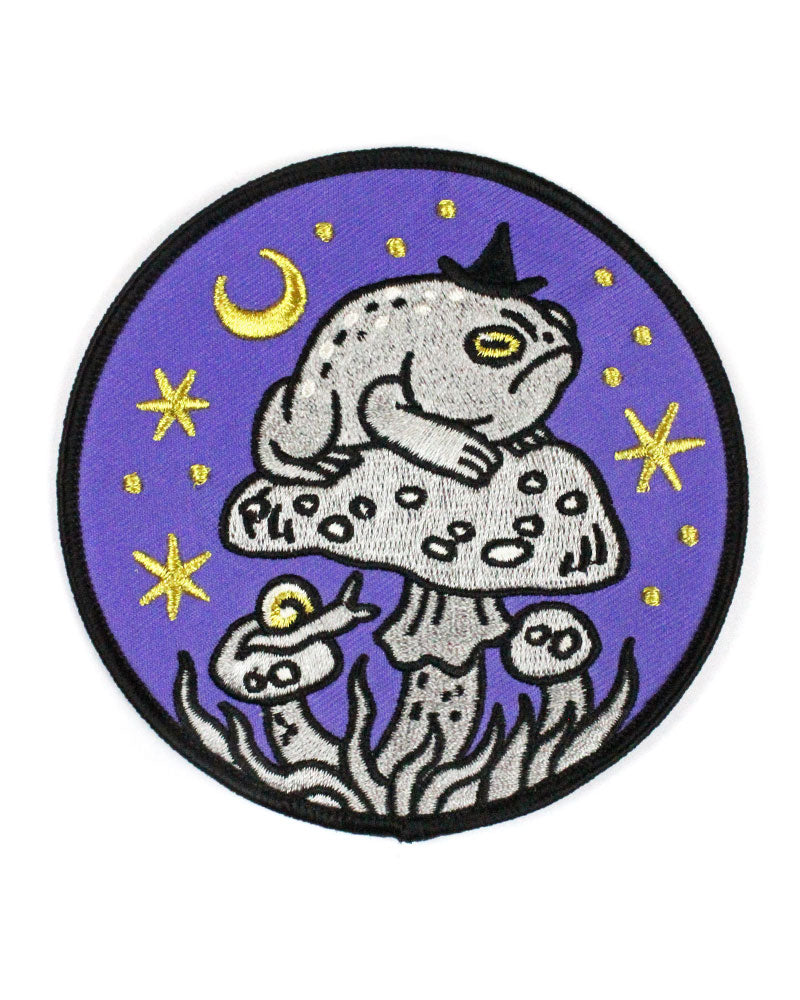 Grumpy Toad Witch Large Patch-Cat Coven-Strange Ways