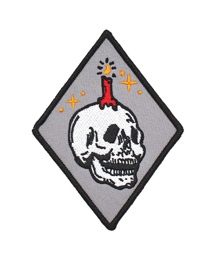 Knowledge Candle Skull Patch-Explorer's Press-Strange Ways