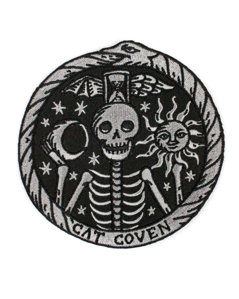 Memento Mori Skeleton Large Patch-Cat Coven-Strange Ways