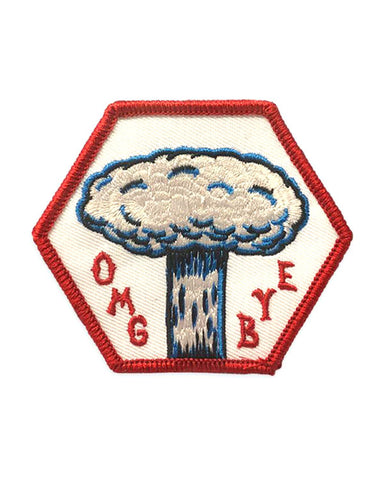 OMG BYE Mushroom Cloud Patch