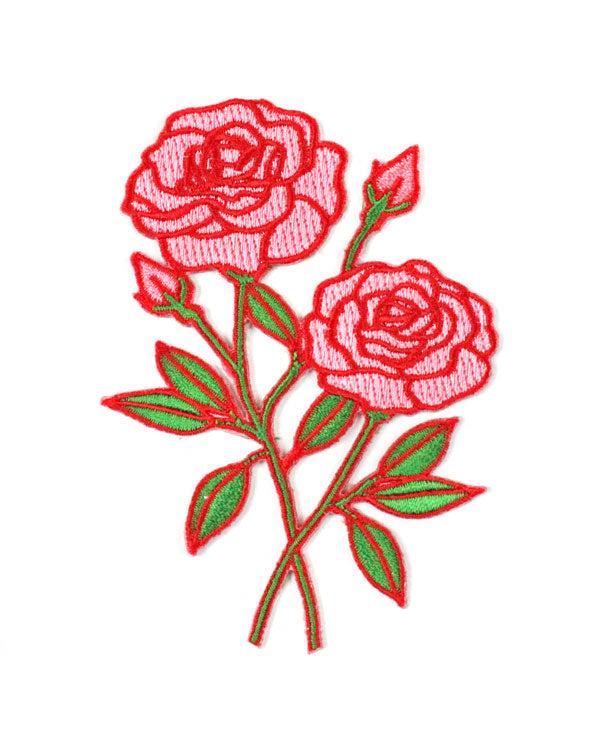 Pink Roses Patch-Creepy Gals-Strange Ways