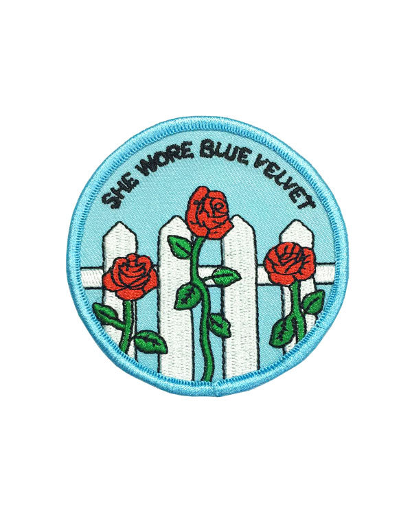 She Wore Blue Velvet Patch-Rosehound Apparel-Strange Ways