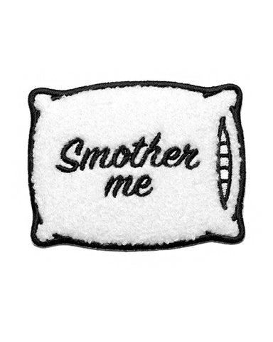 Smother Me Pillow Chenille Patch