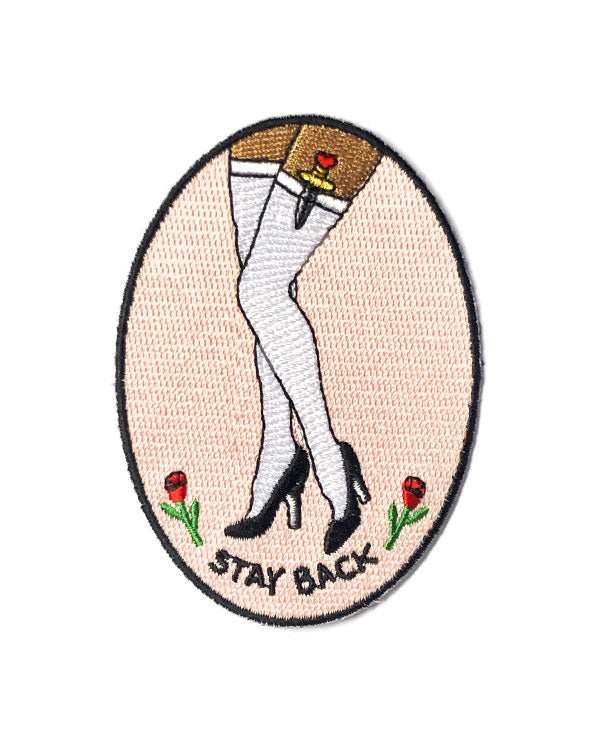 Stay Back Patch-Creepy Gals-Strange Ways