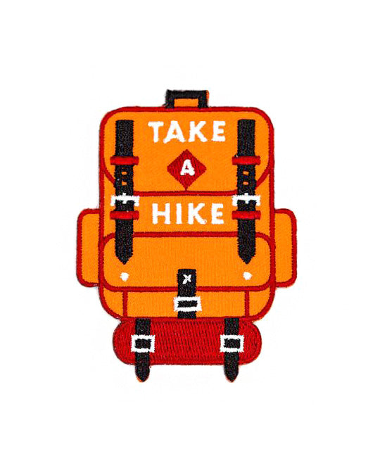 Take A Hike Backpack Patch-These Are Things-Strange Ways