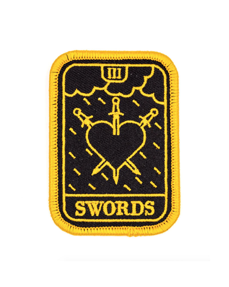 Three Of Swords Tarot Patch-These Are Things-Strange Ways