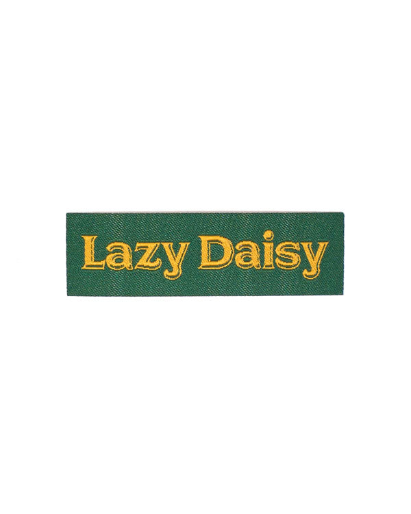 Lazy Daisy Tiny Woven Patch-Stay Home Club-Strange Ways