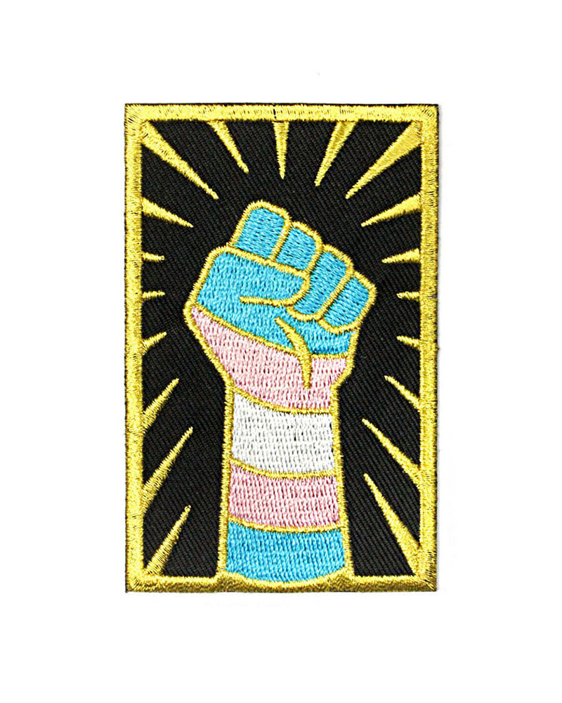 Trans Resist Fist Patch-GAYPIN'-Strange Ways