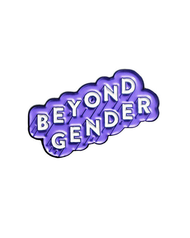 Beyond Gender Pin - Purple-Bianca Designs-Strange Ways