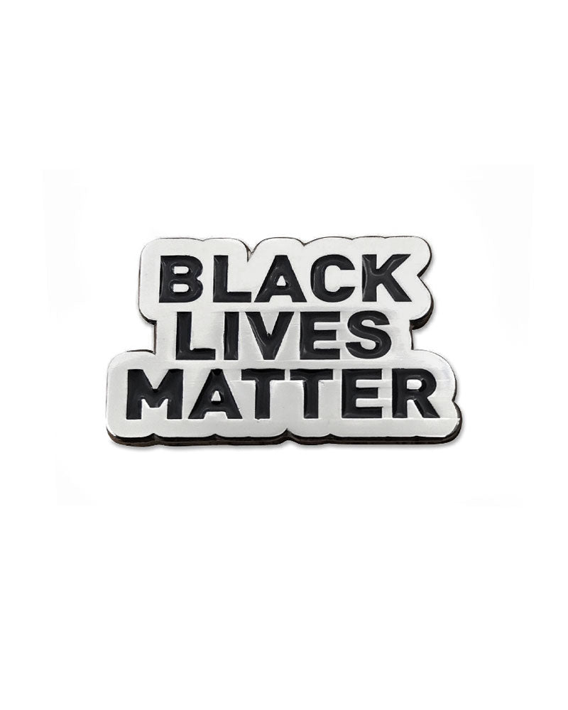 Black Lives Matter Lapel Pin - Silver-Radical Dreams-Strange Ways