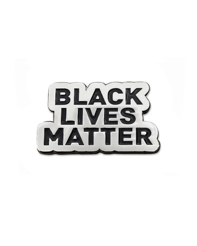 Black Lives Matter Lapel Pin - Silver