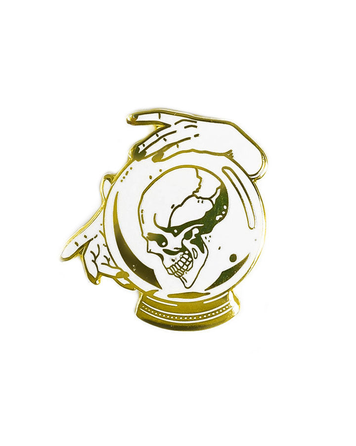 Crystal Ball Skull Pin-Strike Gently Co.-Strange Ways