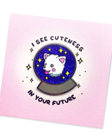 Cuteness In Your Future Dog Pin