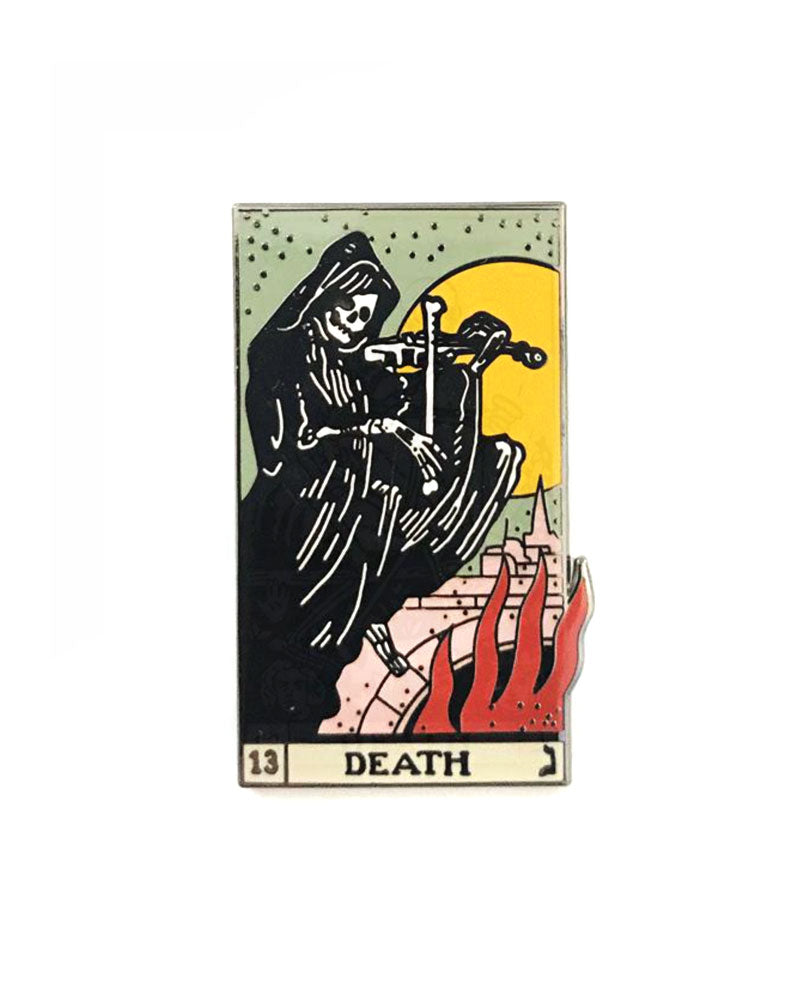 The Death Tarot Card Pin (Full Color)-Strike Gently Co.-Strange Ways