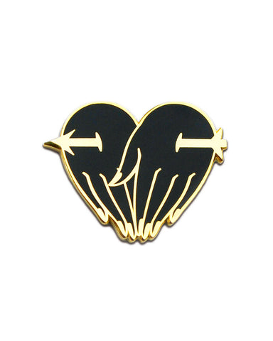 Eternal Lovers Heart Pin