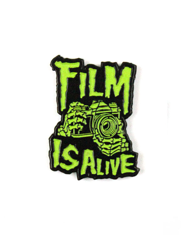 Film Is Alive Skeleton Pin (Glow-in-the-Dark)-Shoot Film Co.-Strange Ways