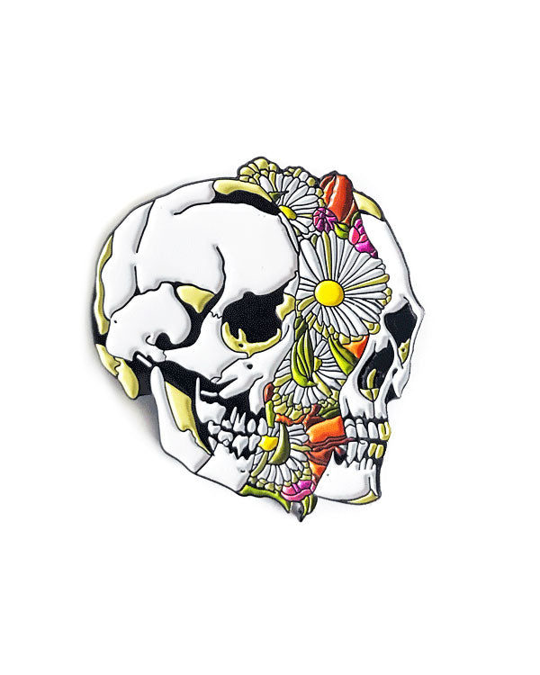 Floral Split Skull Pin-Strike Gently Co.-Strange Ways