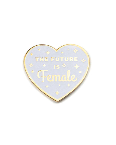 The Future Is Female Heart Pin - White (Glow-in-the-Dark)